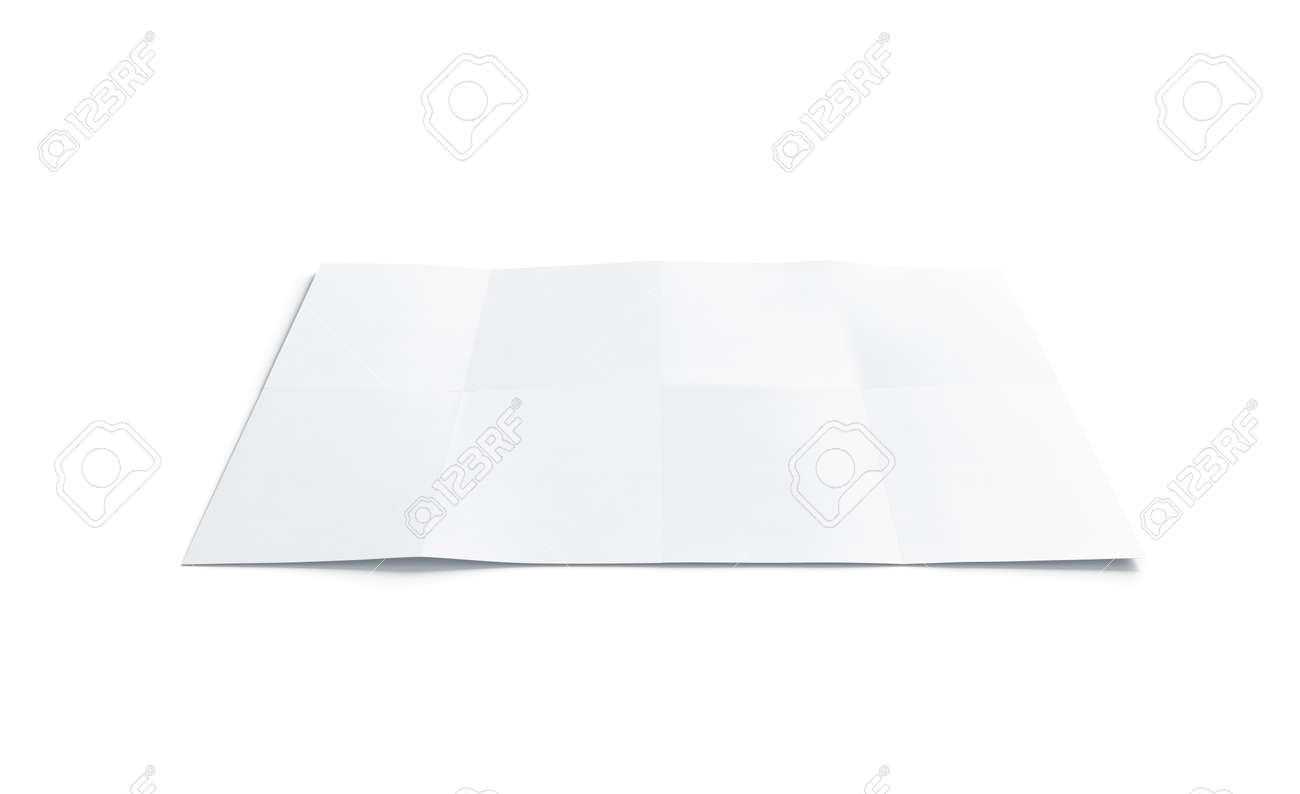 Blank white chart booklet mock up, isolated, 3d rendering. Empty..