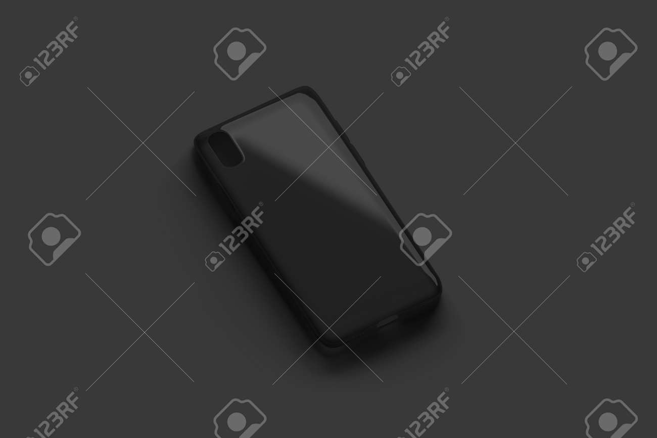 Blank Black Transparent Phone Case Mockup Isolated On Dark Surface Stock Photo Picture And Royalty Free Image Image 117190206