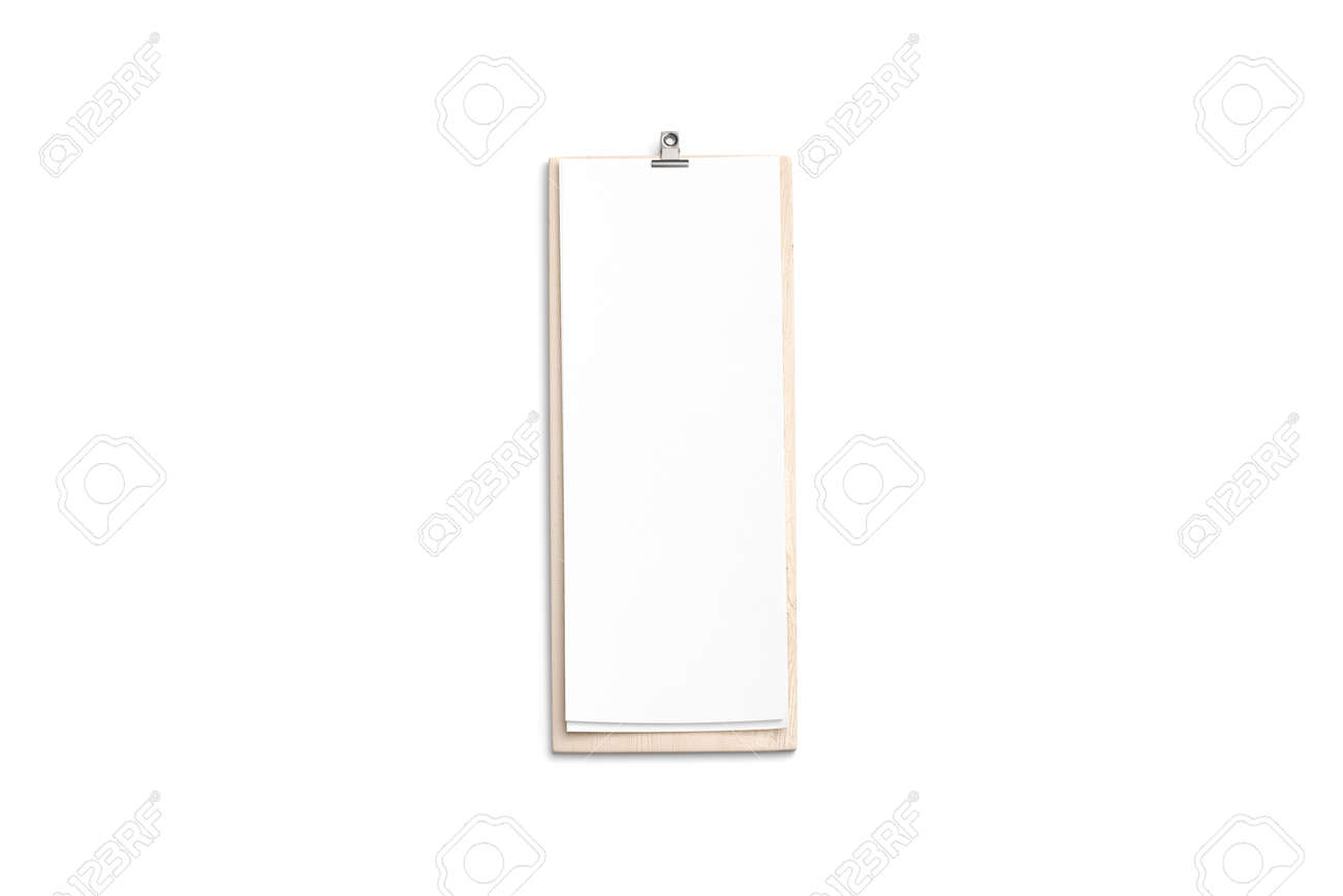 carte menu restaurant vide Blank Cafe Menu, Wooden Board Mock Up, 4 Inch, Top View, 3d