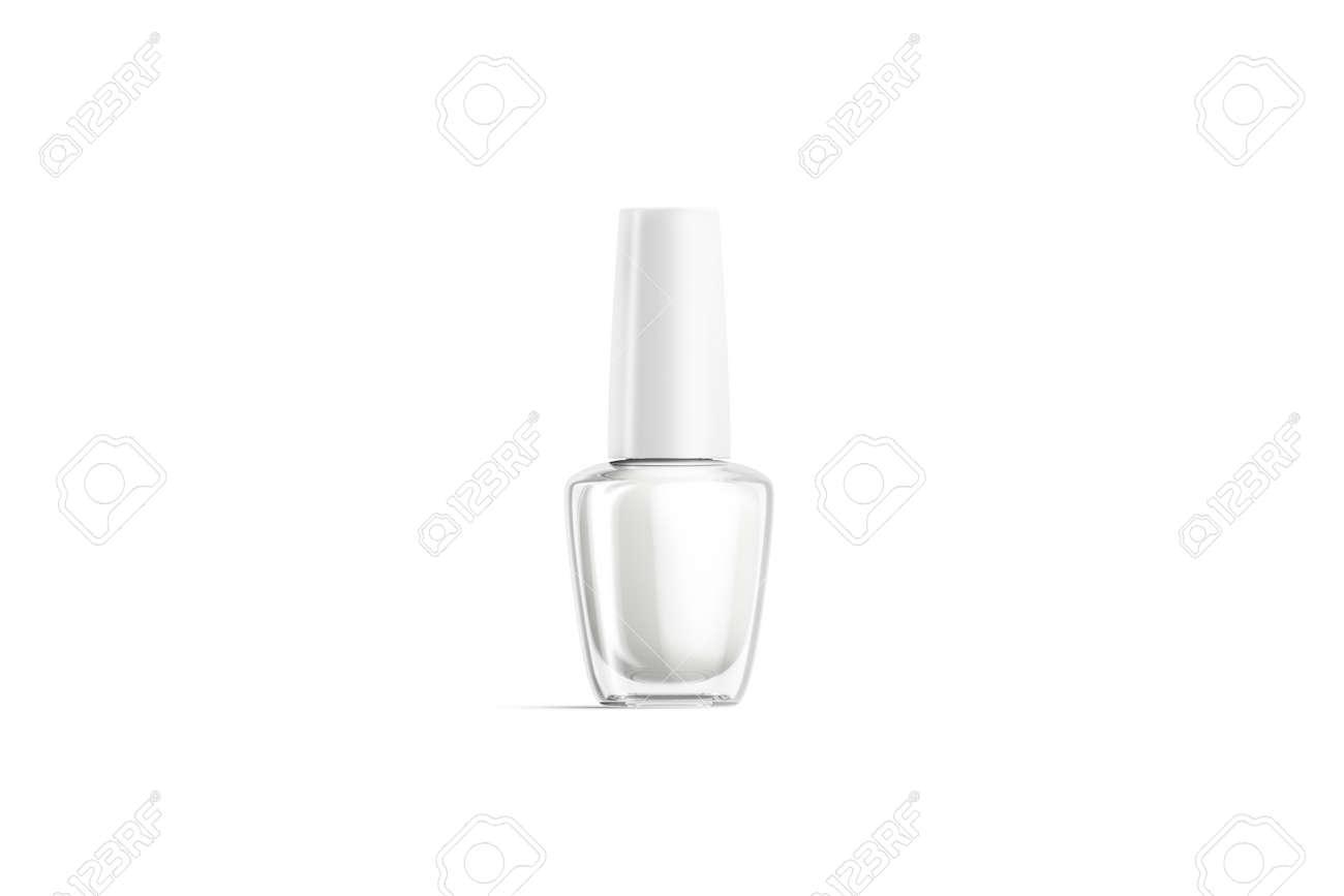 Blank transparent glass nail polish bottle mock up, isolated - 133475302