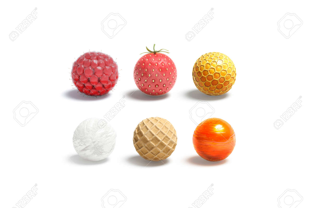 Blank candy ball mock up set, isolated - 172748444