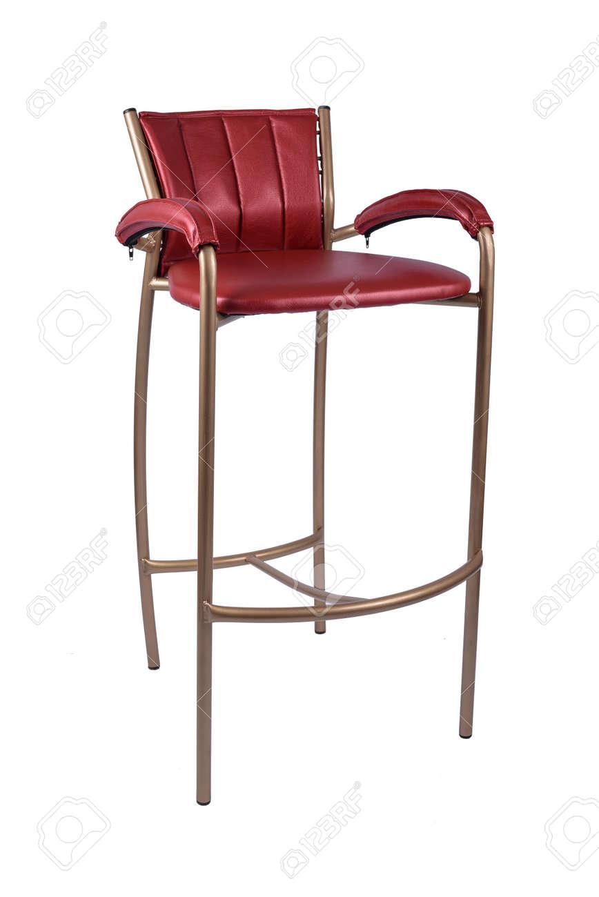 Red Gold Barhocker Stuhl Isoliert Auf Weiss Lizenzfreie Fotos Bilder Und Stock Fotografie Image 91579575