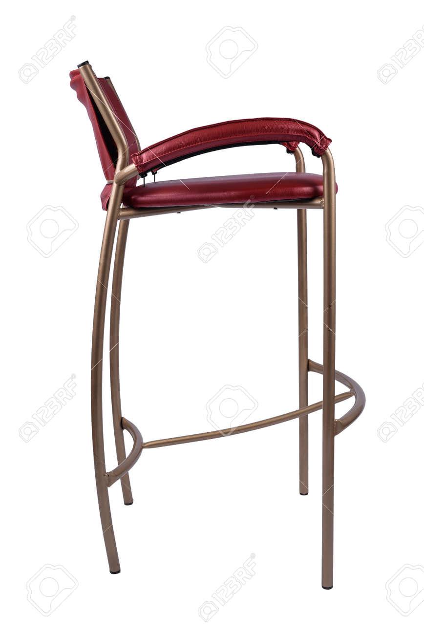 Red Gold Barhocker Stuhl Isoliert Auf Weiss Lizenzfreie Fotos Bilder Und Stock Fotografie Image 91579576