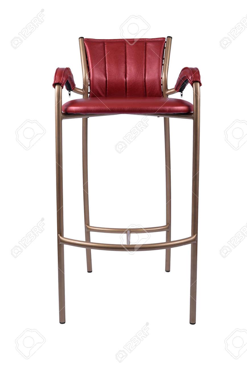 Red Gold Barhocker Stuhl Isoliert Auf Weiss Lizenzfreie Fotos Bilder Und Stock Fotografie Image 91587040