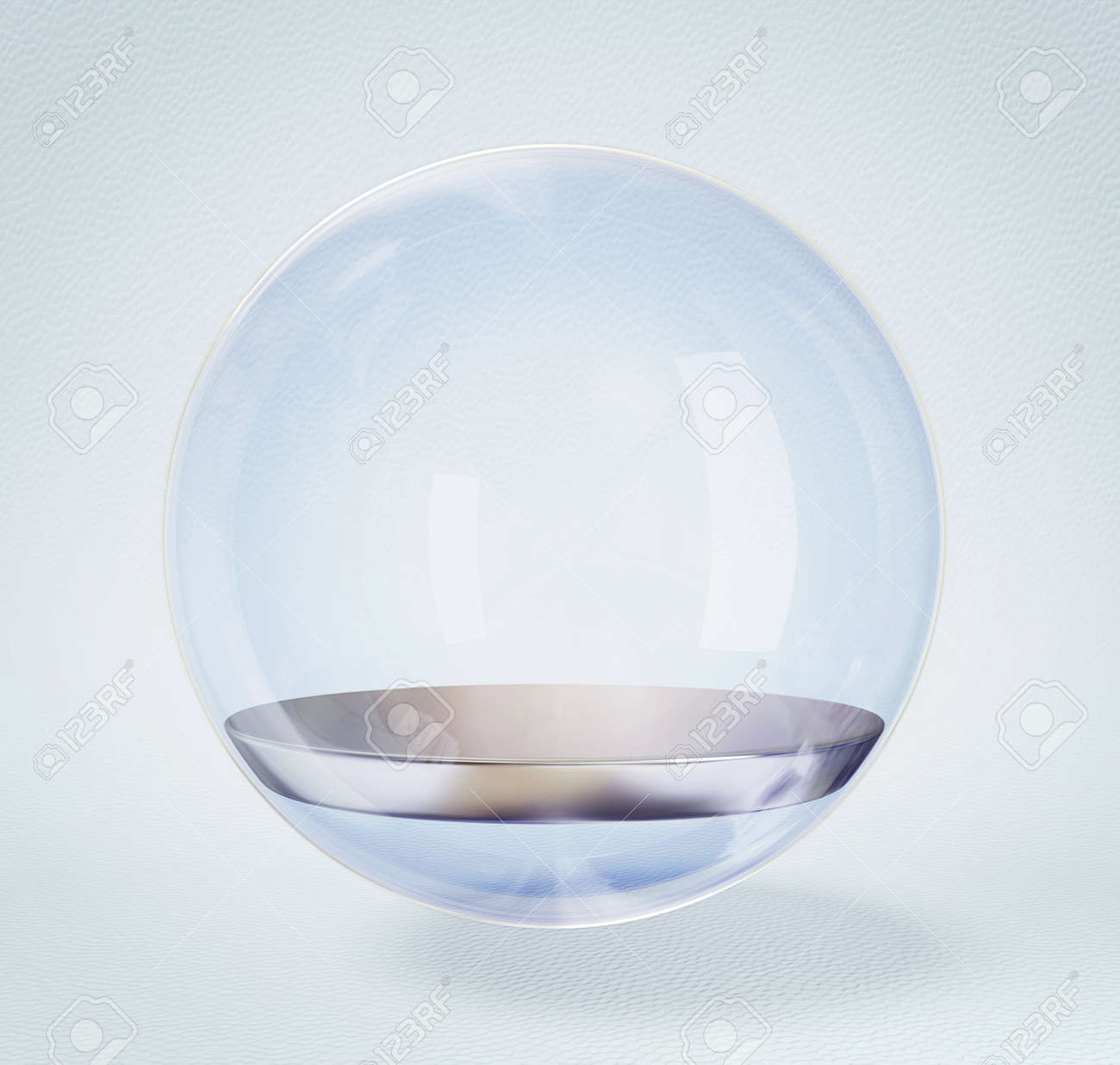 glass sphere isolated on a white background. Stock Photo - 13618617