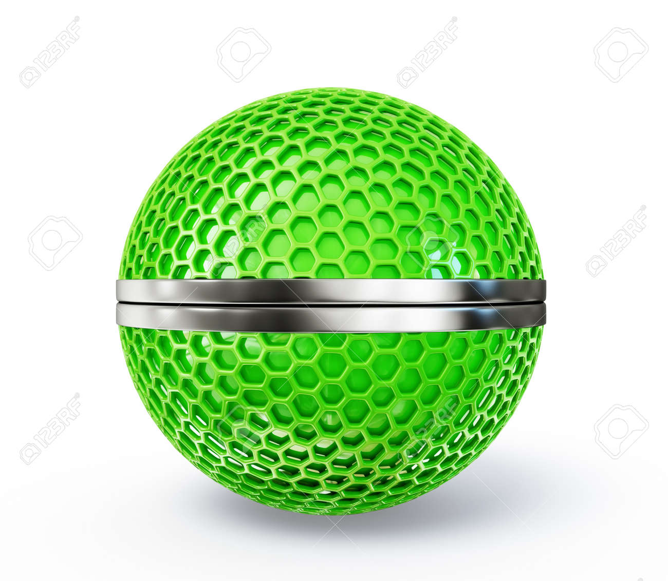 3d sphere isolated on a white background Stock Photo - 18462436