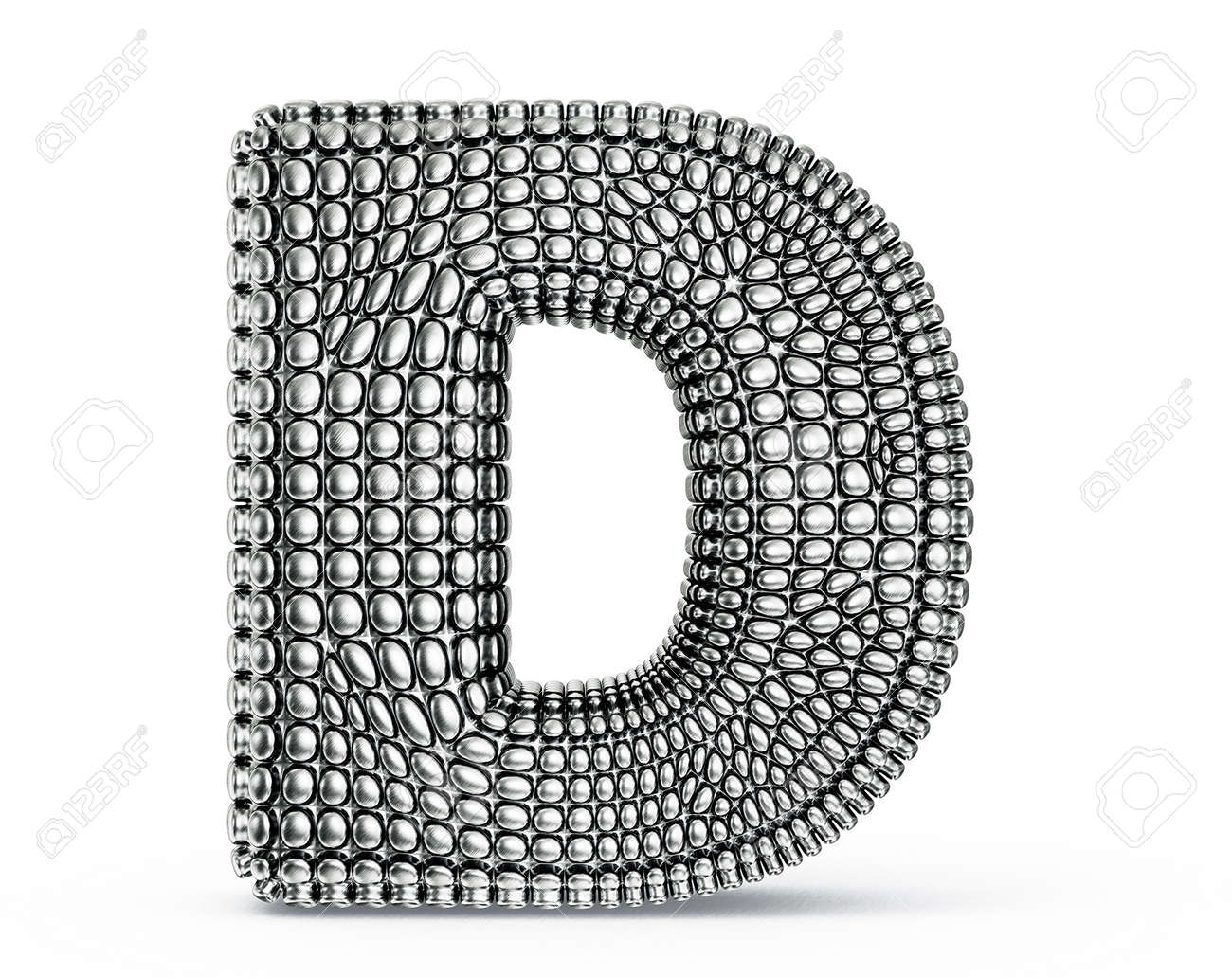 steel letter isolated on a white background Stock Photo - 20036680