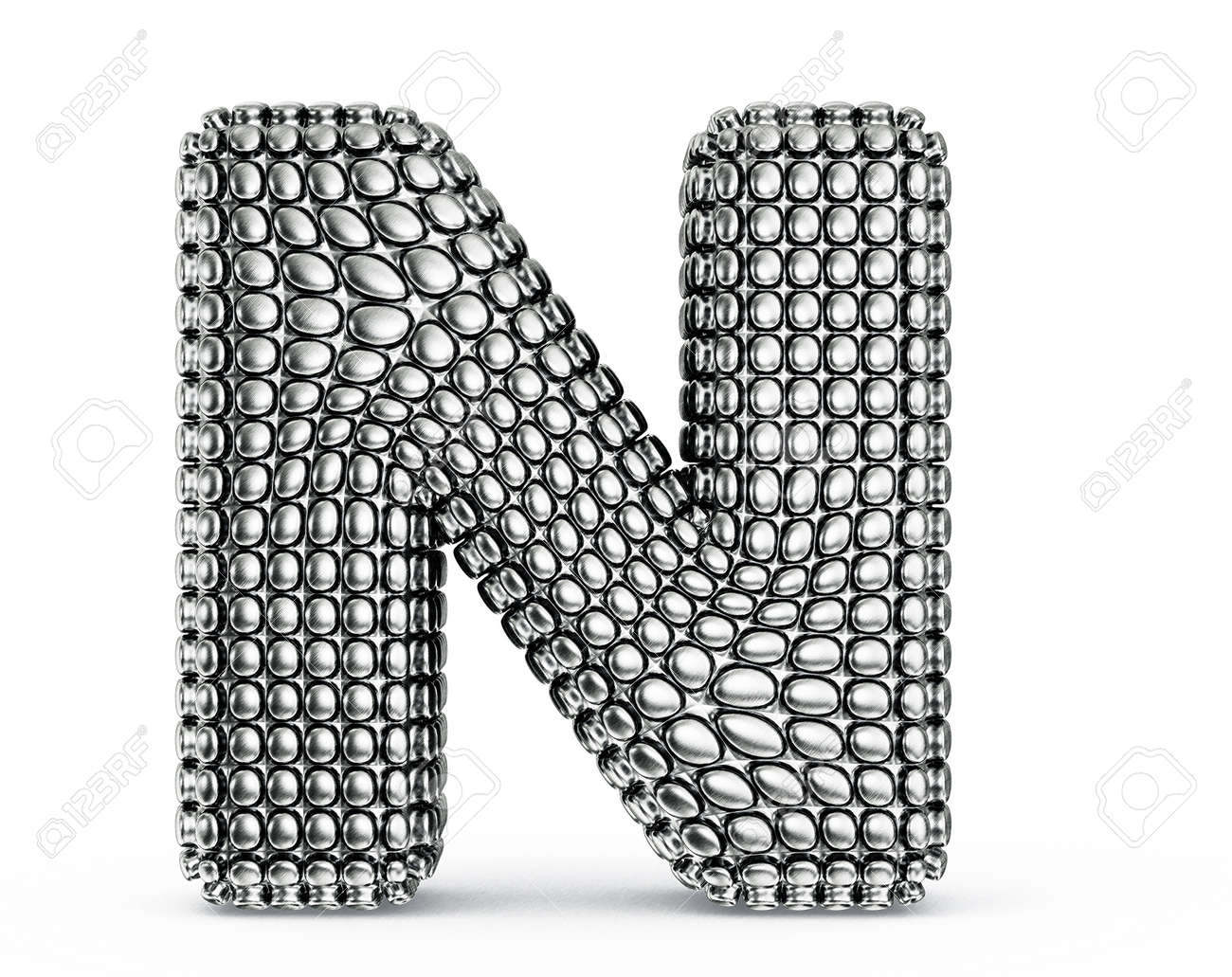 steel letter isolated on a white background Stock Photo - 20036689