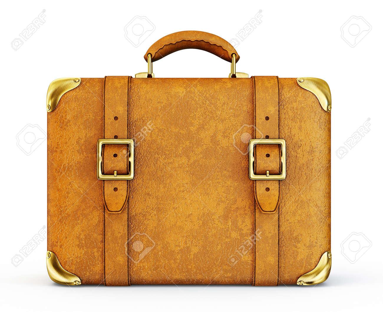Verrassend Retro-Koffer Auf Einem Weißen Hintergrund Lizenzfreie Fotos WB-12