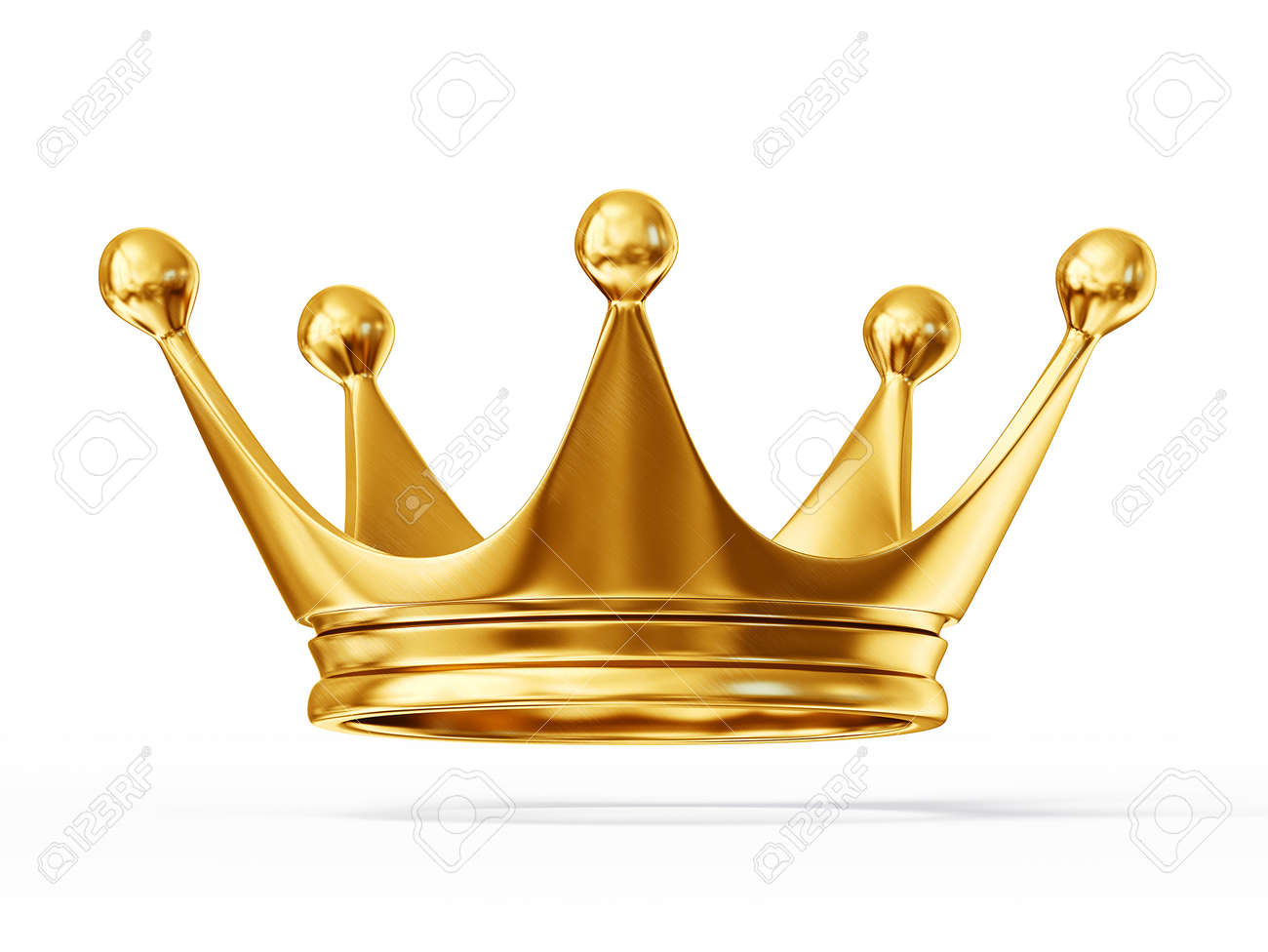 golden crown isolated on a white background - 25741698