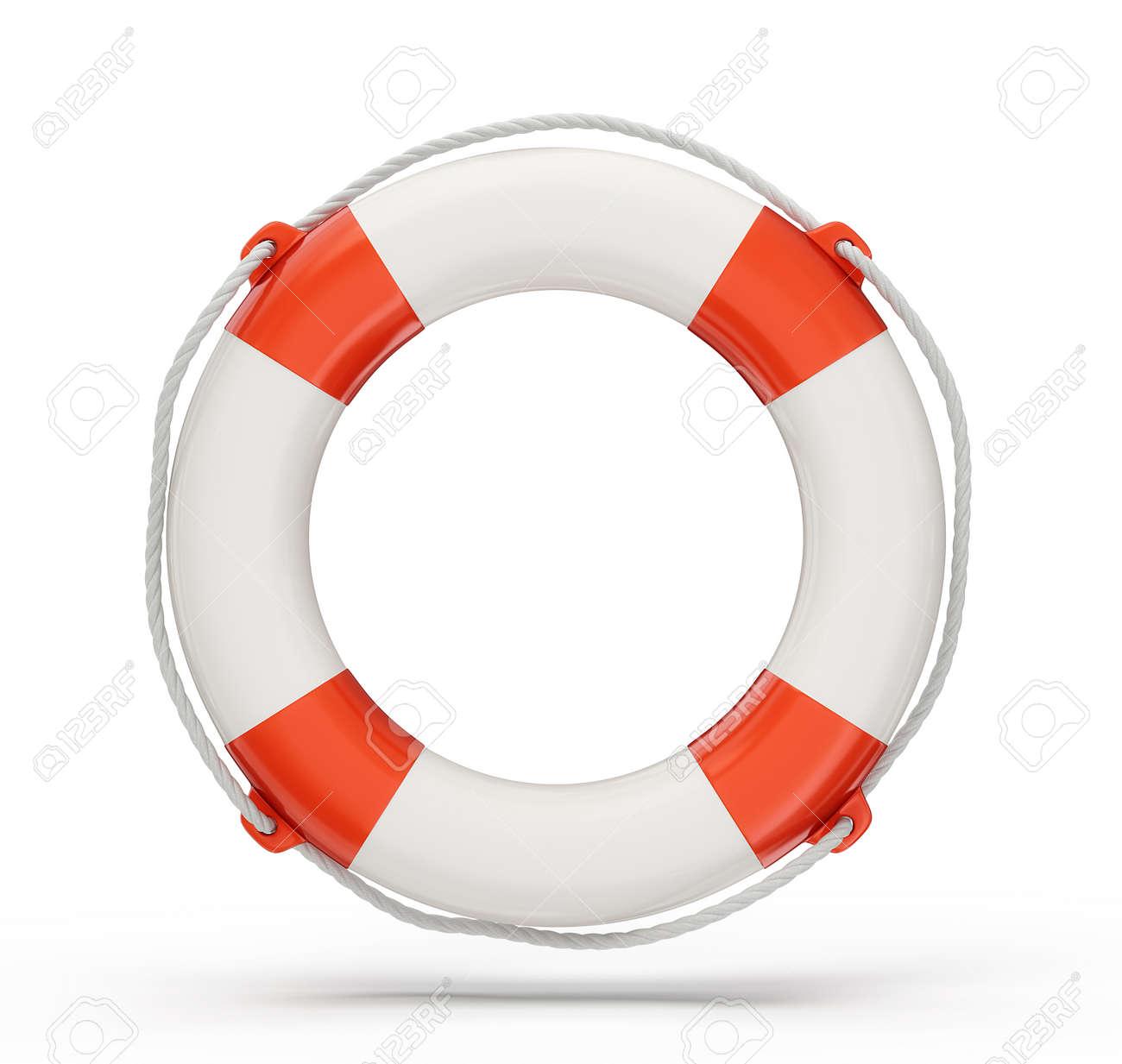 lifebuoy isolated on a white background. 3d illustration - 25742147