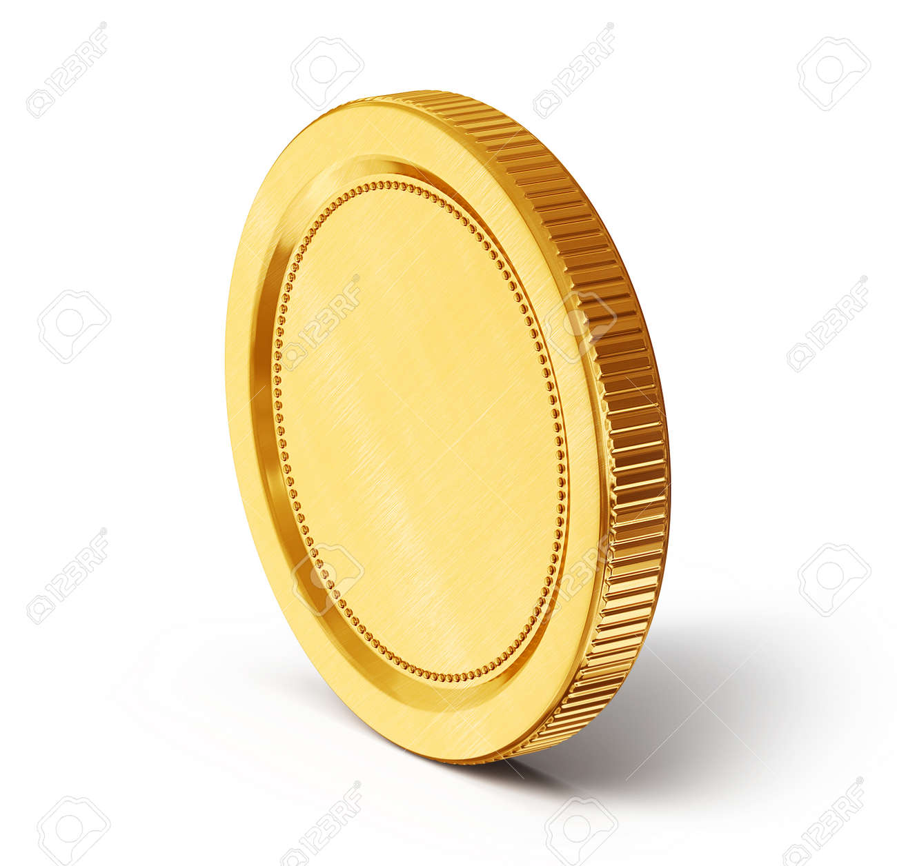 gold coin isolated on a white background - 25742157