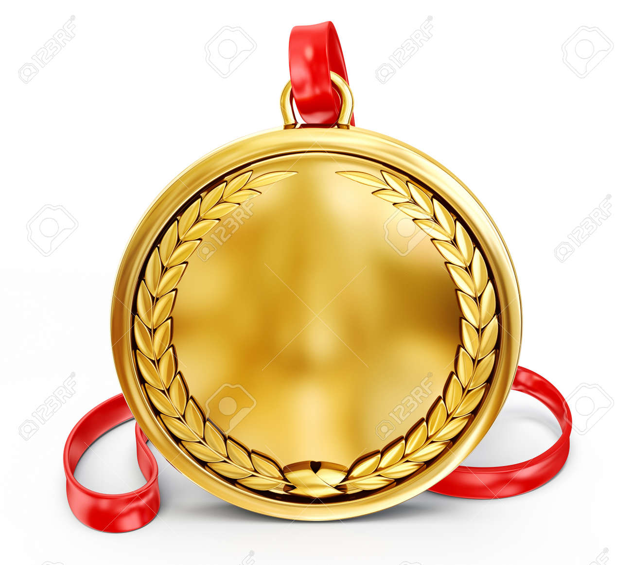 gold medal isolated on a white background - 29027359