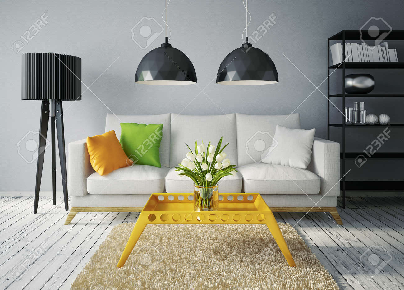 modern interior room with a beautiful furniture - 30898165
