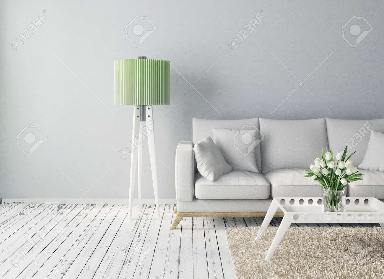 modern interior room with a beautiful furniture - 30898168