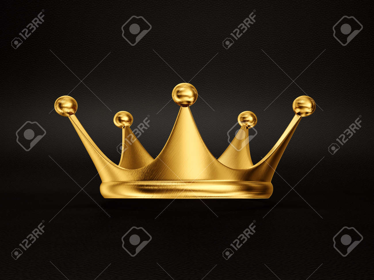 gold crown isolated on a black background - 32774079