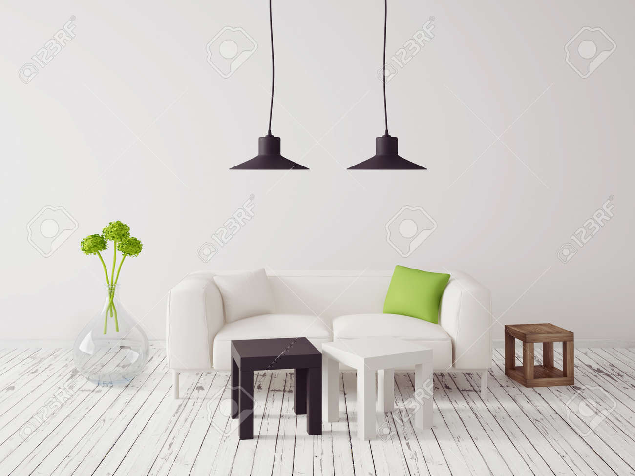 3d render. modern interior with a beautiful furniture - 34873251