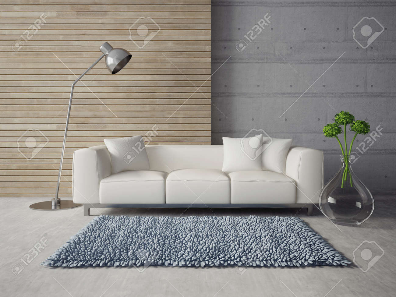 3d render. modern interior with a beautiful furniture - 34874652
