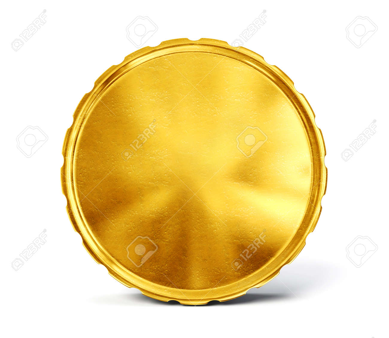 gold coin isolated on a white. 3d illustration - 36058942
