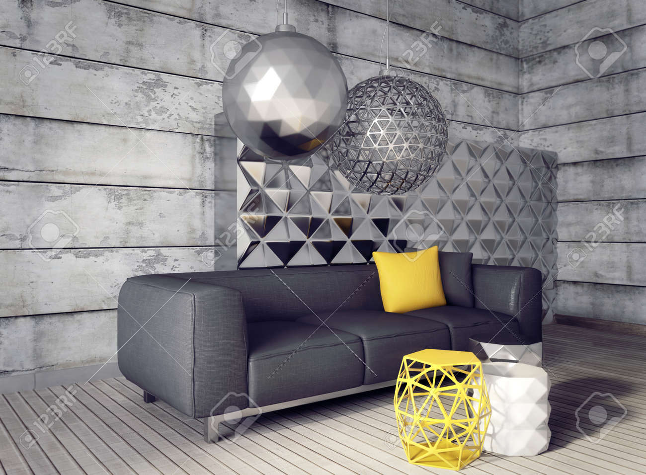 3d render. modern interior room with a beautyful furniture. - 37926720