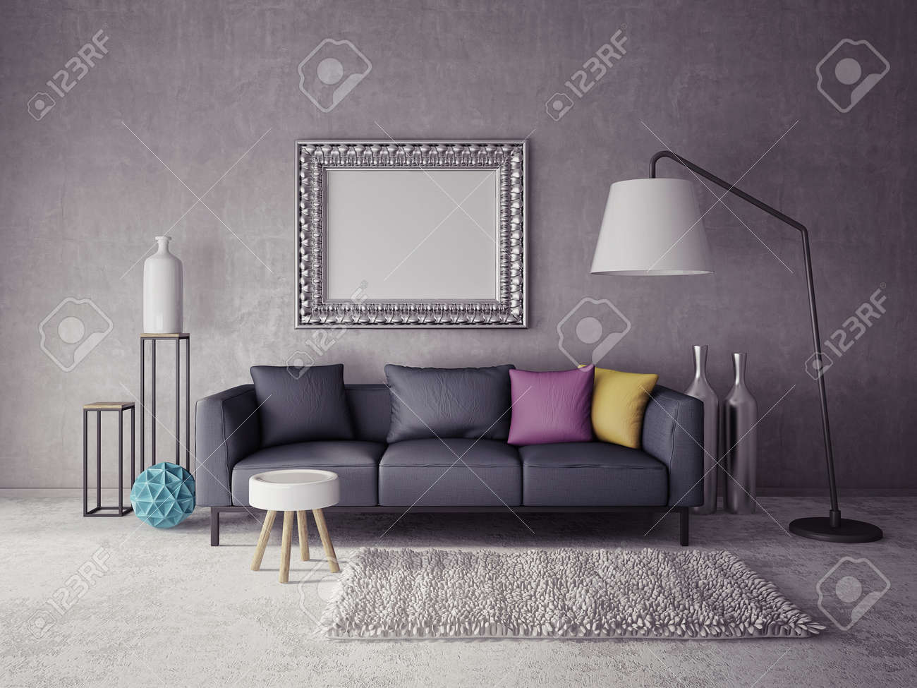 3d render. modern interior room with a beautiful furniture - 40125355