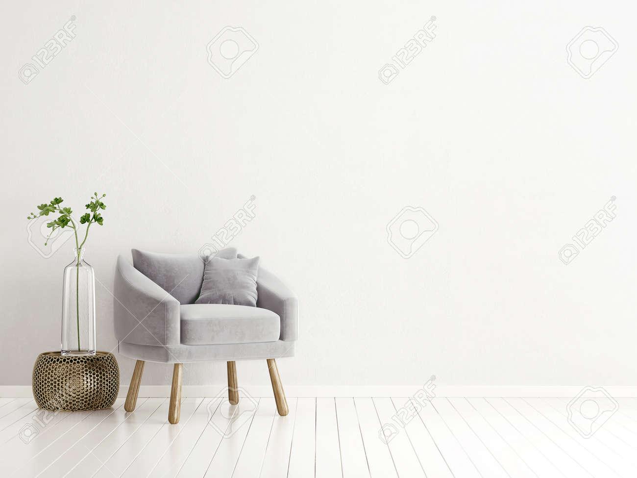 modern interior room with nice furniture. 3d illustration - 74520171