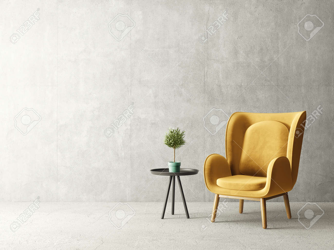 New Ideas Yellow Modern Armchair
