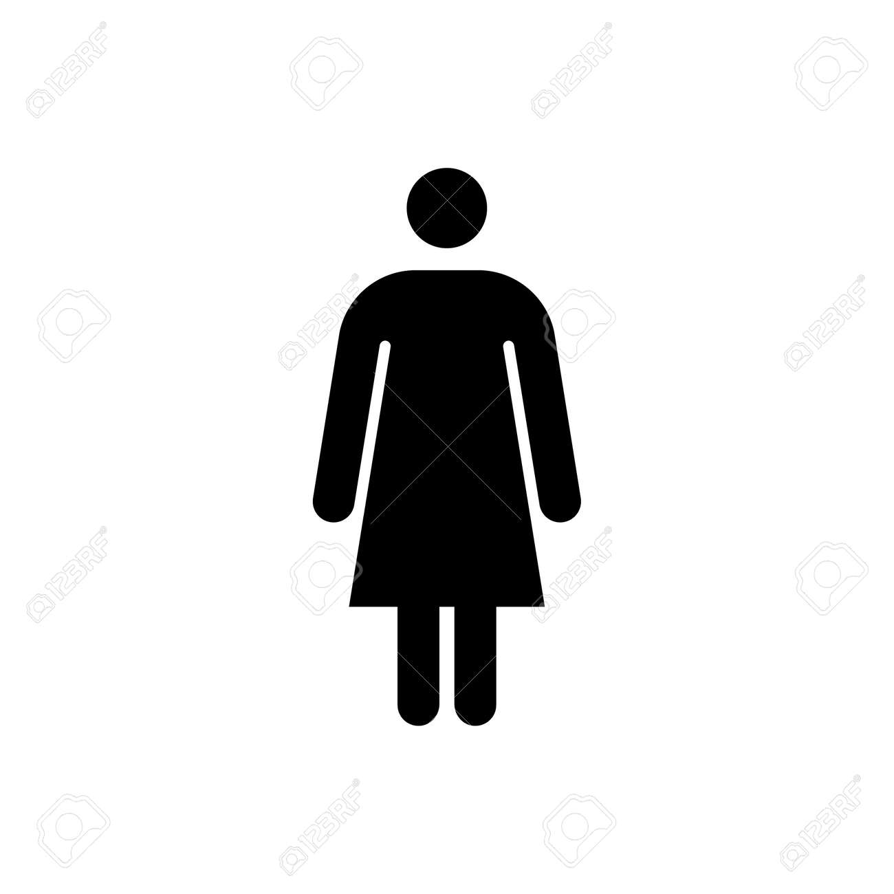 Woman Icon Female Sign For Restroom Girl Wc Pictogram For Bathroom Royalty Free Cliparts Vectors And Stock Illustration Image 162454315