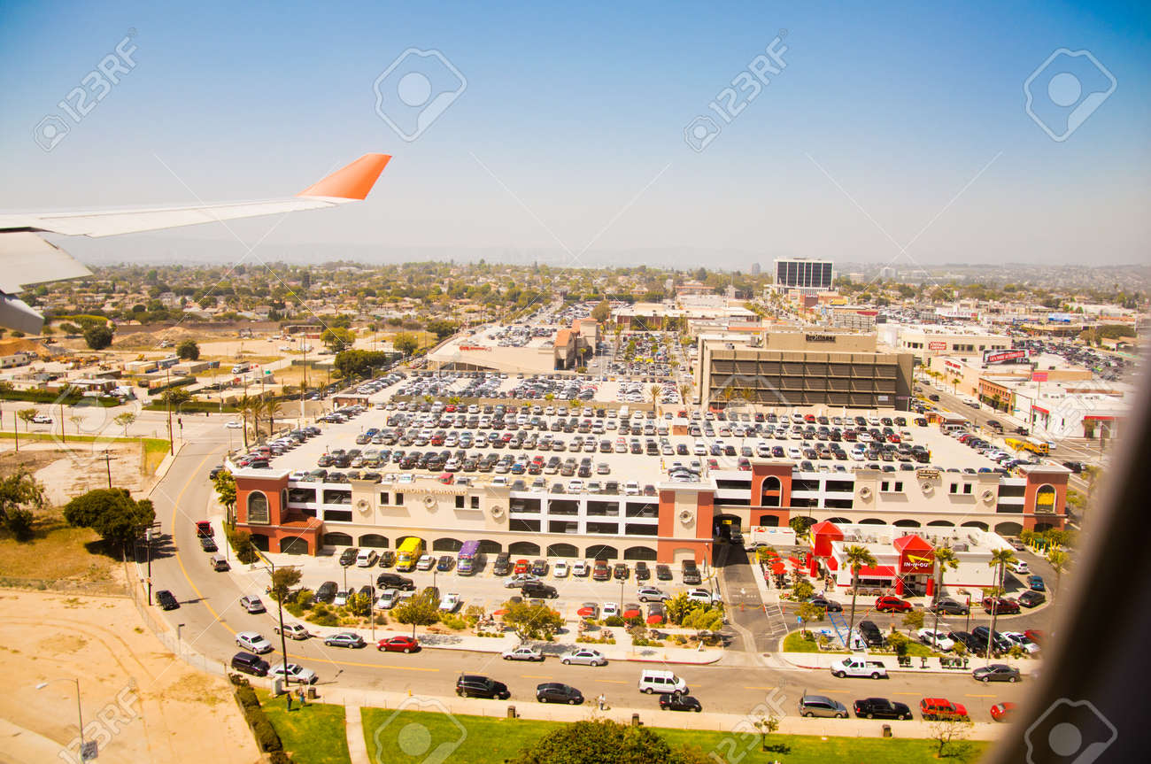 Los Angeles downtown, bird s eye view at sunny day Stock Photo - 14148074