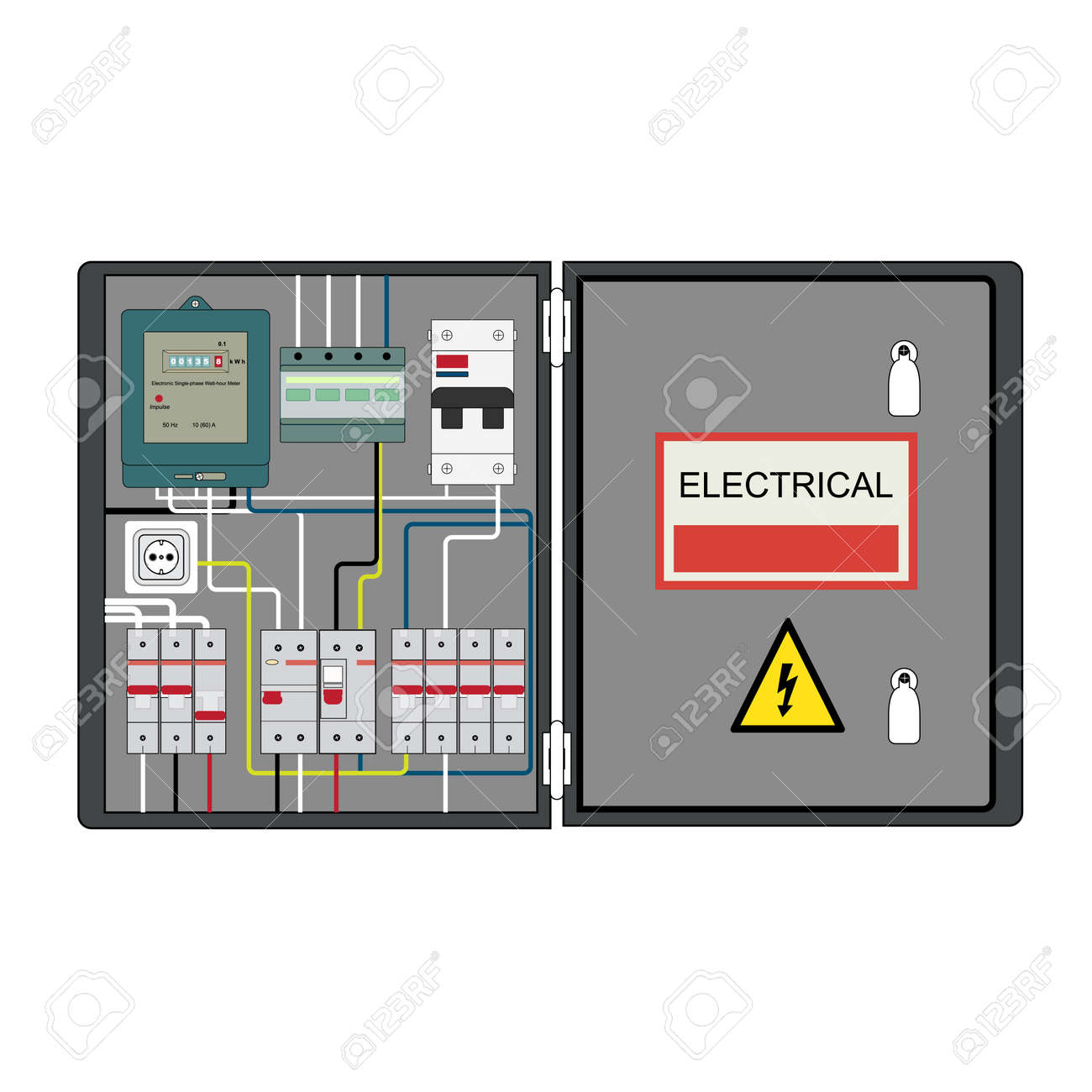 Circuit Breaker Cabinet Contact Breaker Stock Photos Images Royalty Free Contact Breaker