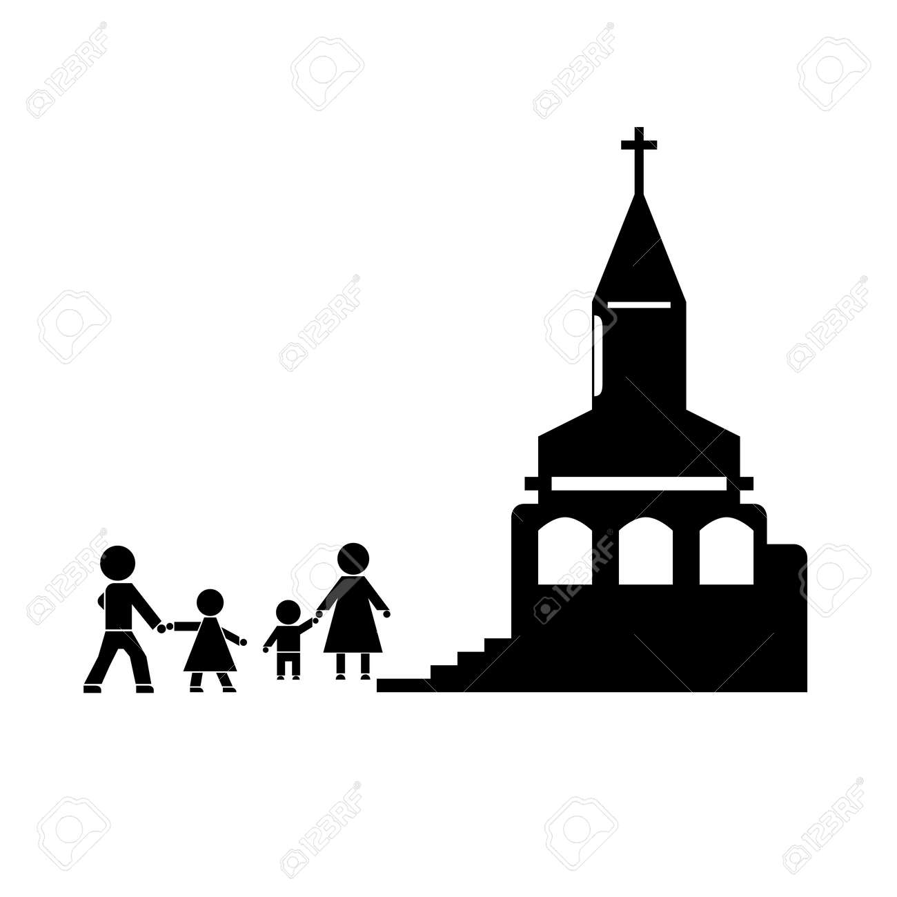 Figures of people people go to church family the family attends figures of people people go to church family the family attends church symbols buycottarizona Gallery