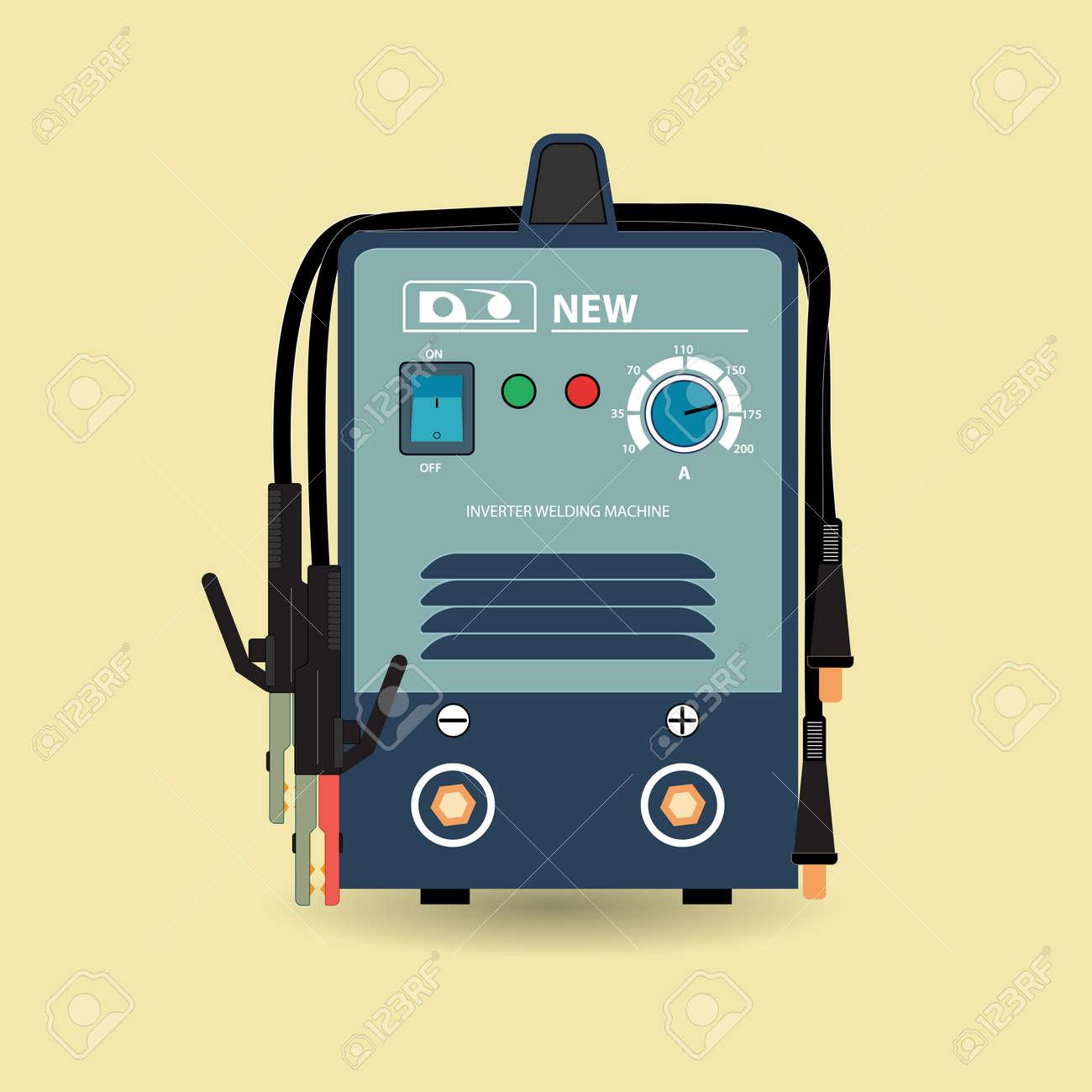 elektro-schweißgerät. inverter, schweißgerät mit klemmen