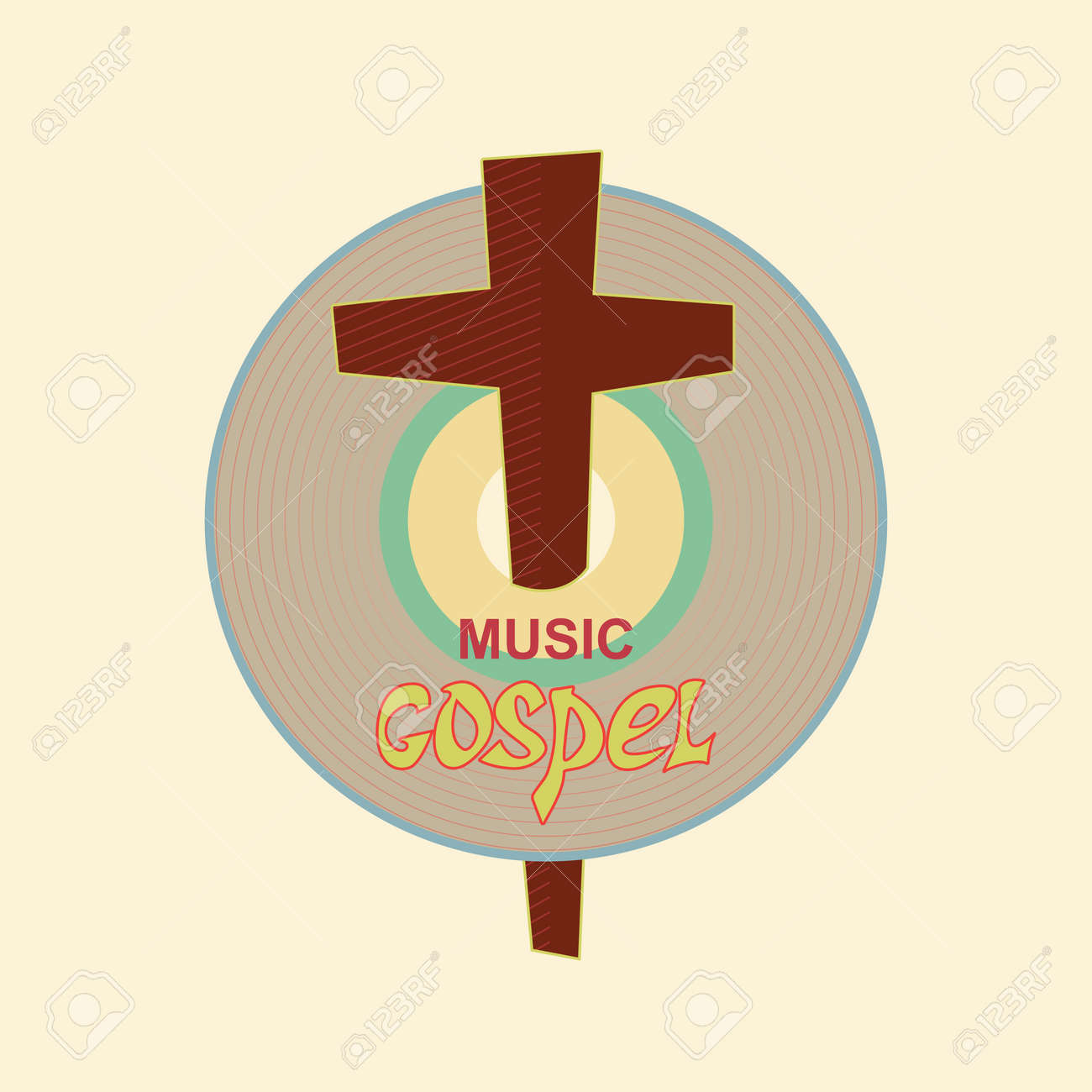 Christian emblem with the image of the music cd and the cross christian emblem with the image of the music cd and the cross symbolizes a christian biocorpaavc
