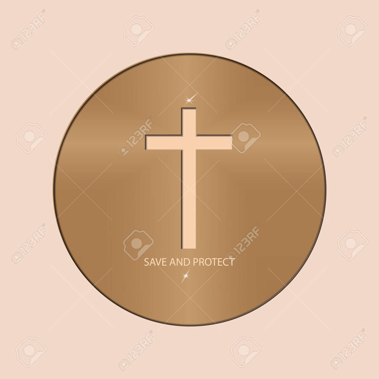 Logo With The Christian Cross In The Circle Religious Symbols