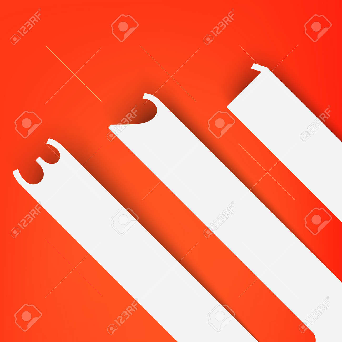 Numbered banners Stock Vector - 19159906