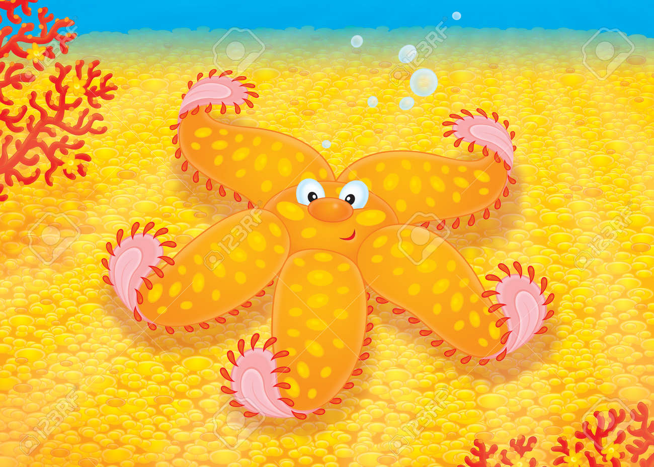 Starfish at the bottom of the sea Stock Photo - 12030573
