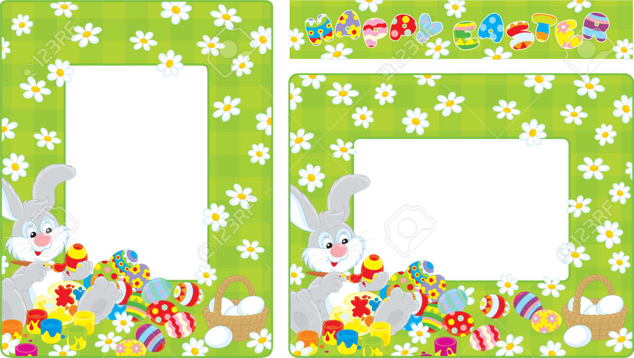 easter bunny border
