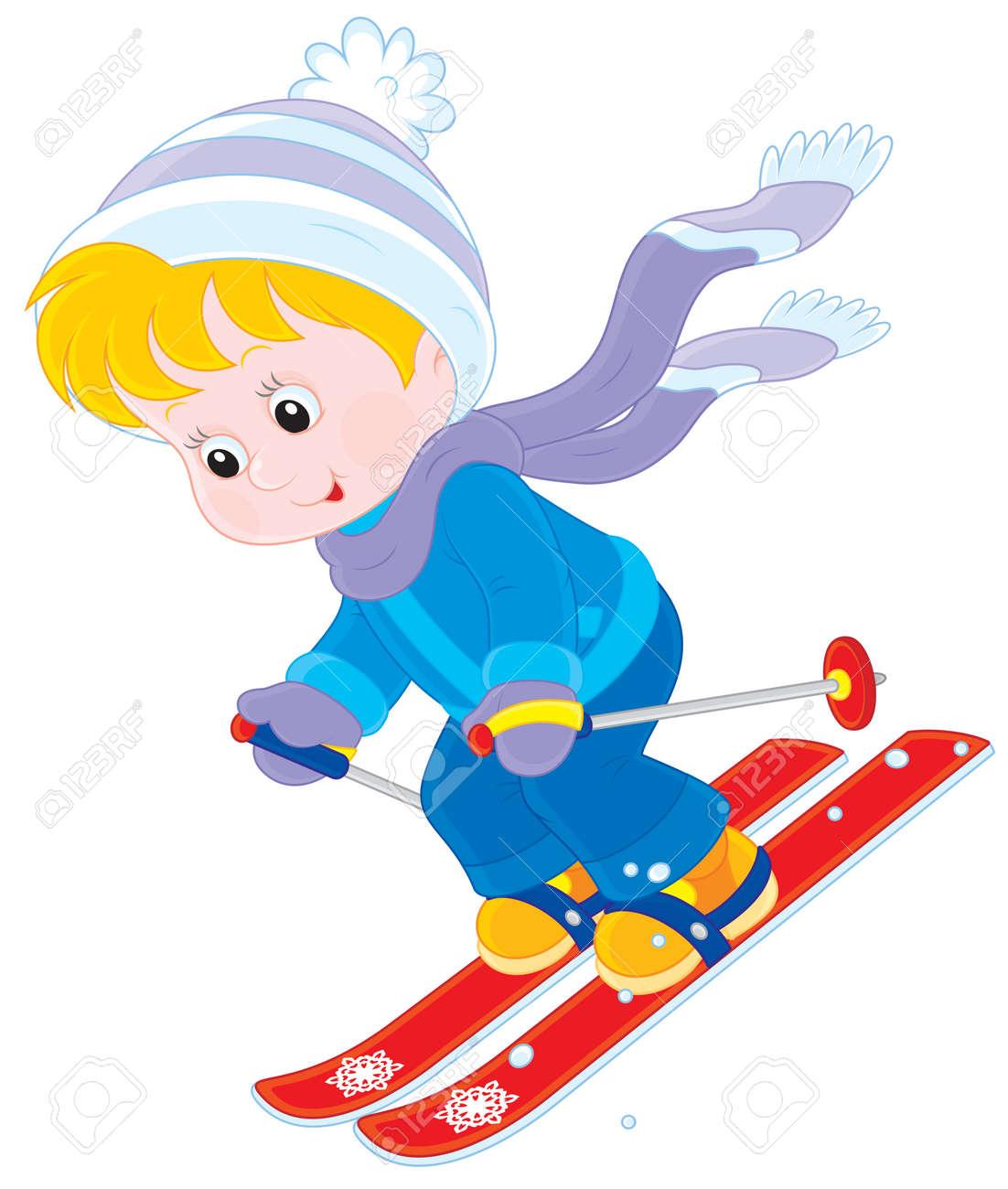 Картинки по запросу лыжи дети клипарт