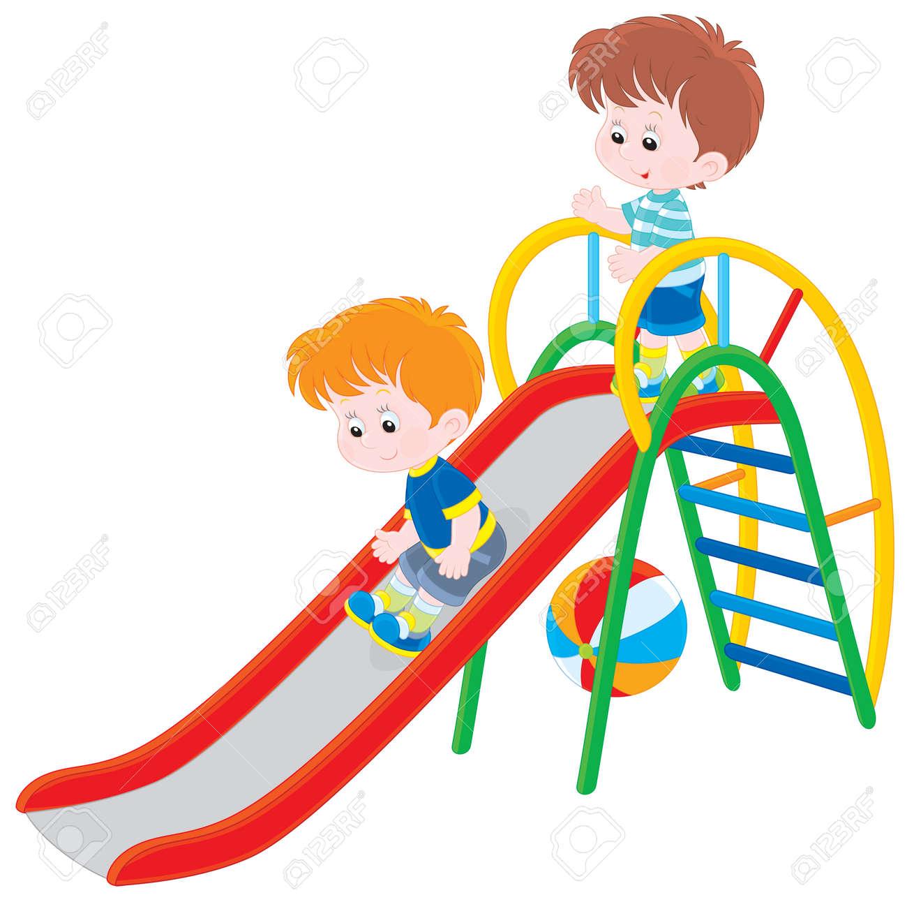Children on a slide - 25438908