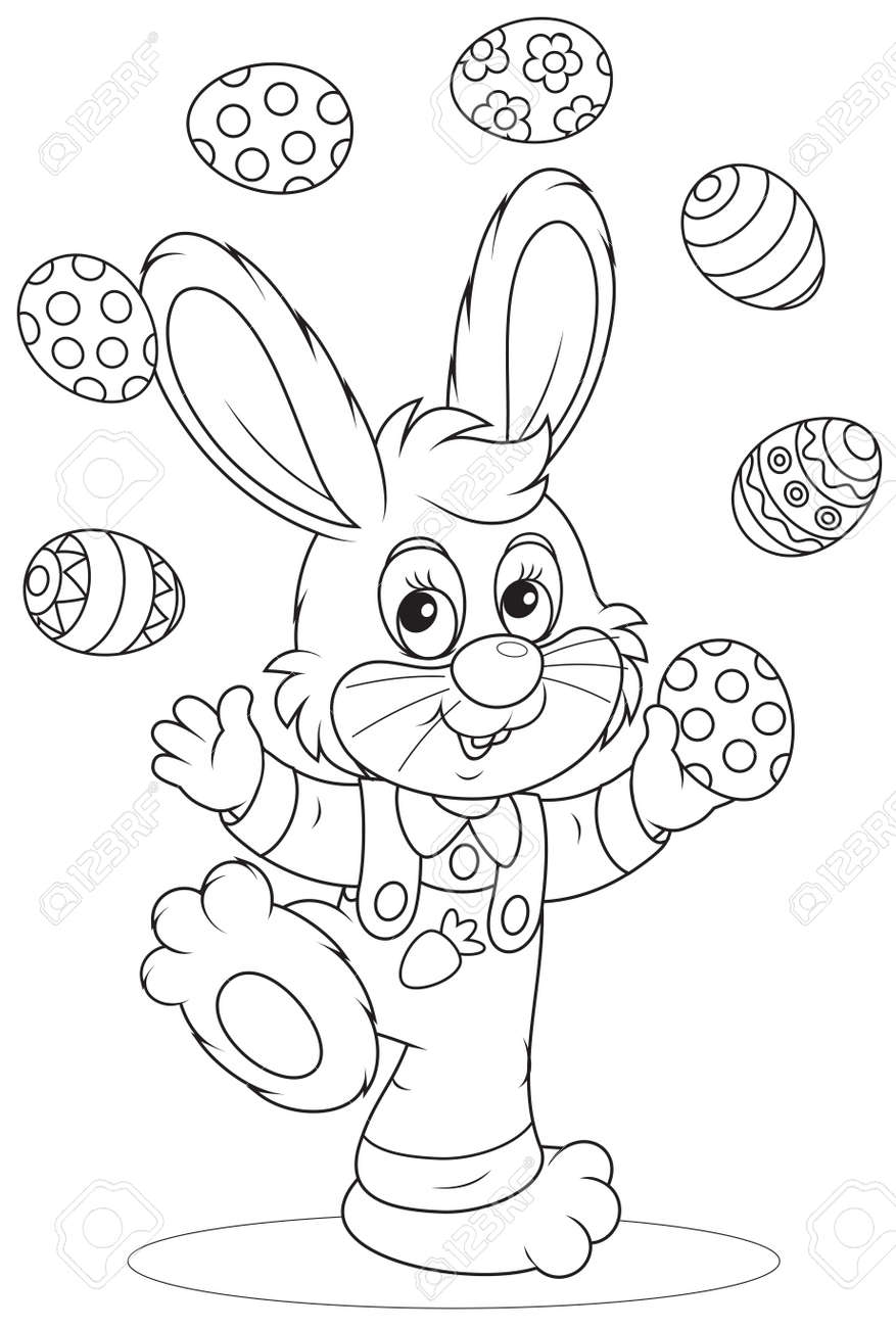 Easter Bunny juggler - 26591592