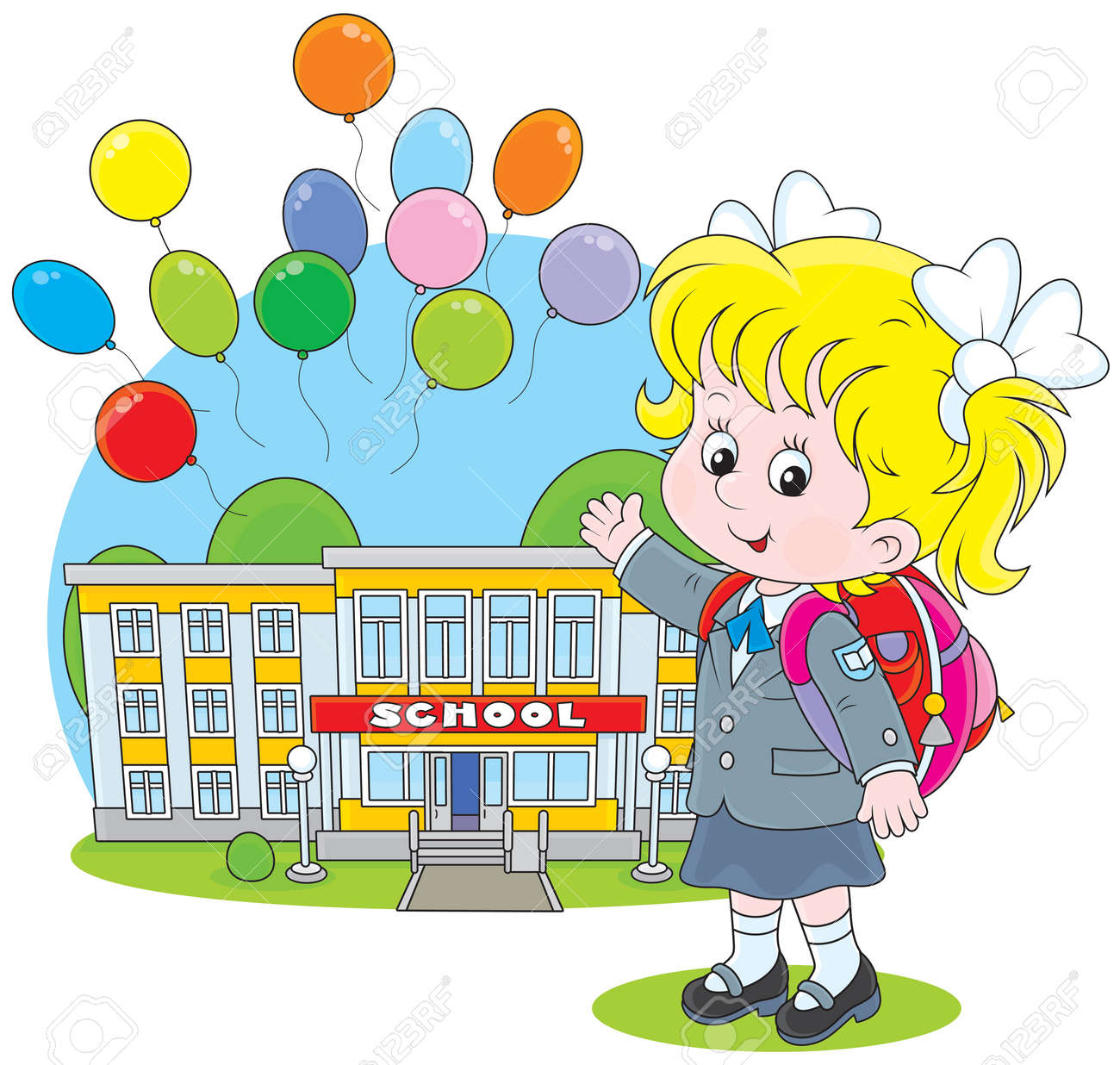 Schoolgirl Stock Vector - 27251280