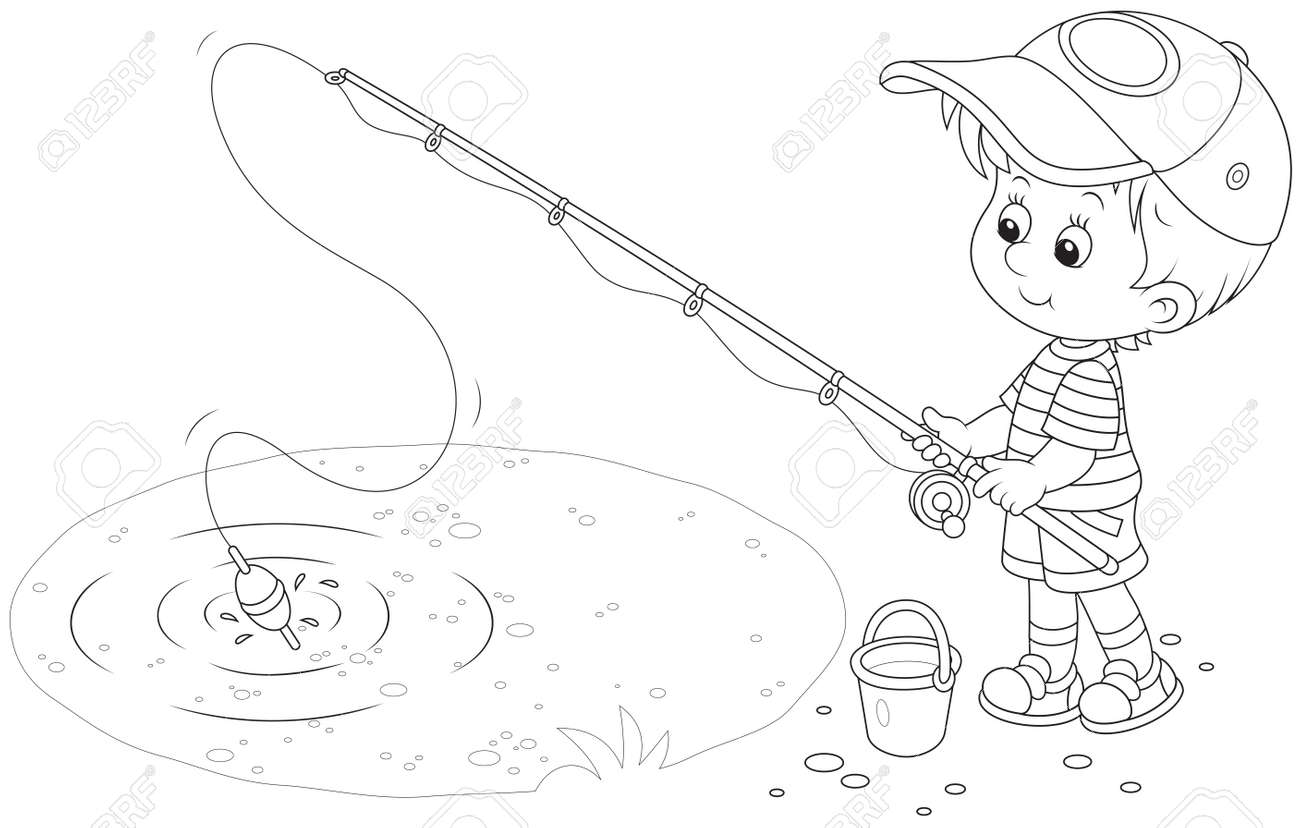 Little Boy Fishing Royalty Free Cliparts Vectors And Stock Illustration Image 29840385