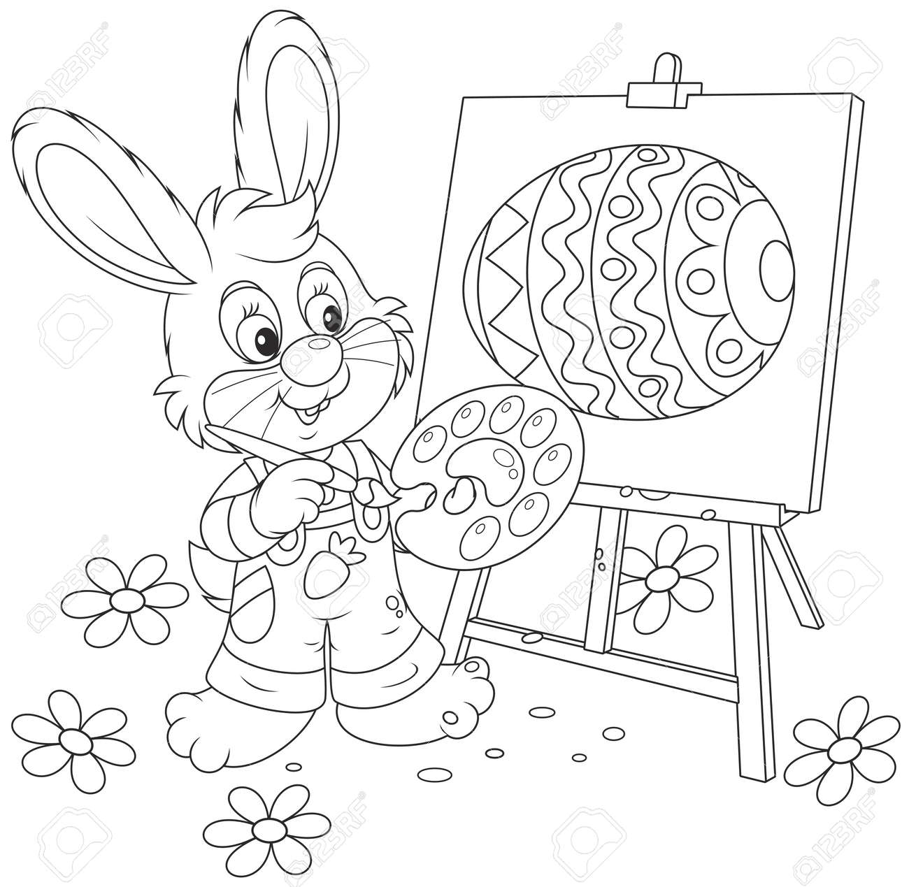 Easter Bunny painter - 36500150