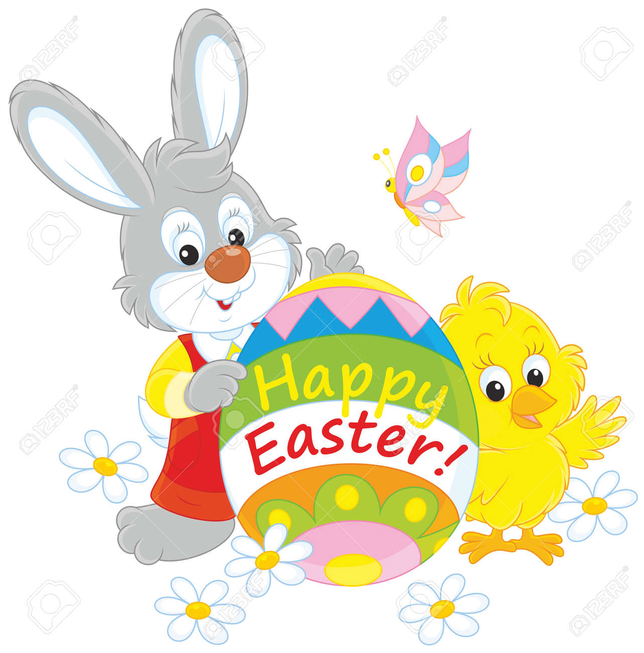 Easter Bunny and Chick - 36512095