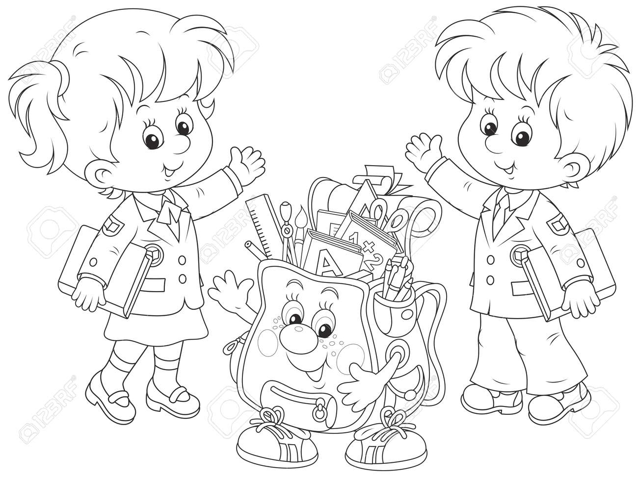 welcome back to school royalty free cliparts, vectors, and stock