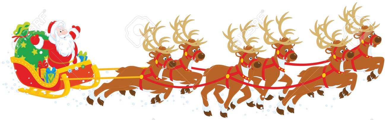 Christmas Sleigh of Santa Claus - 48547209