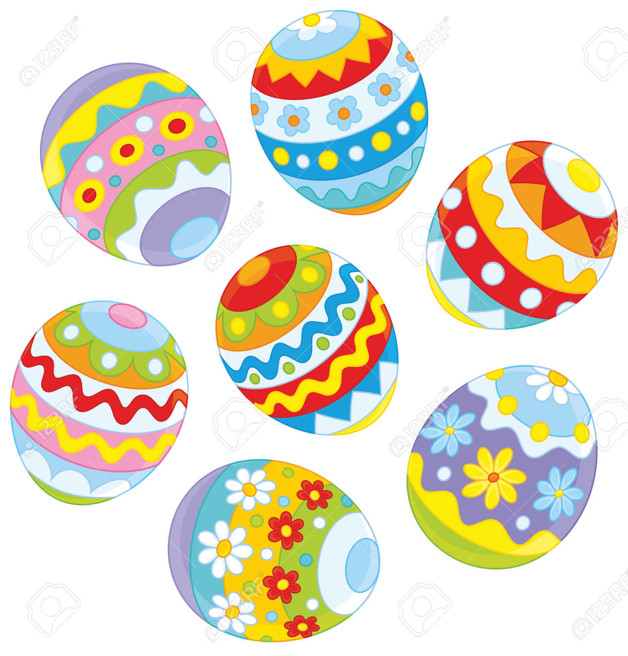 Decorated Easter Eggs Royalty Free Cliparts Vectors And Stock