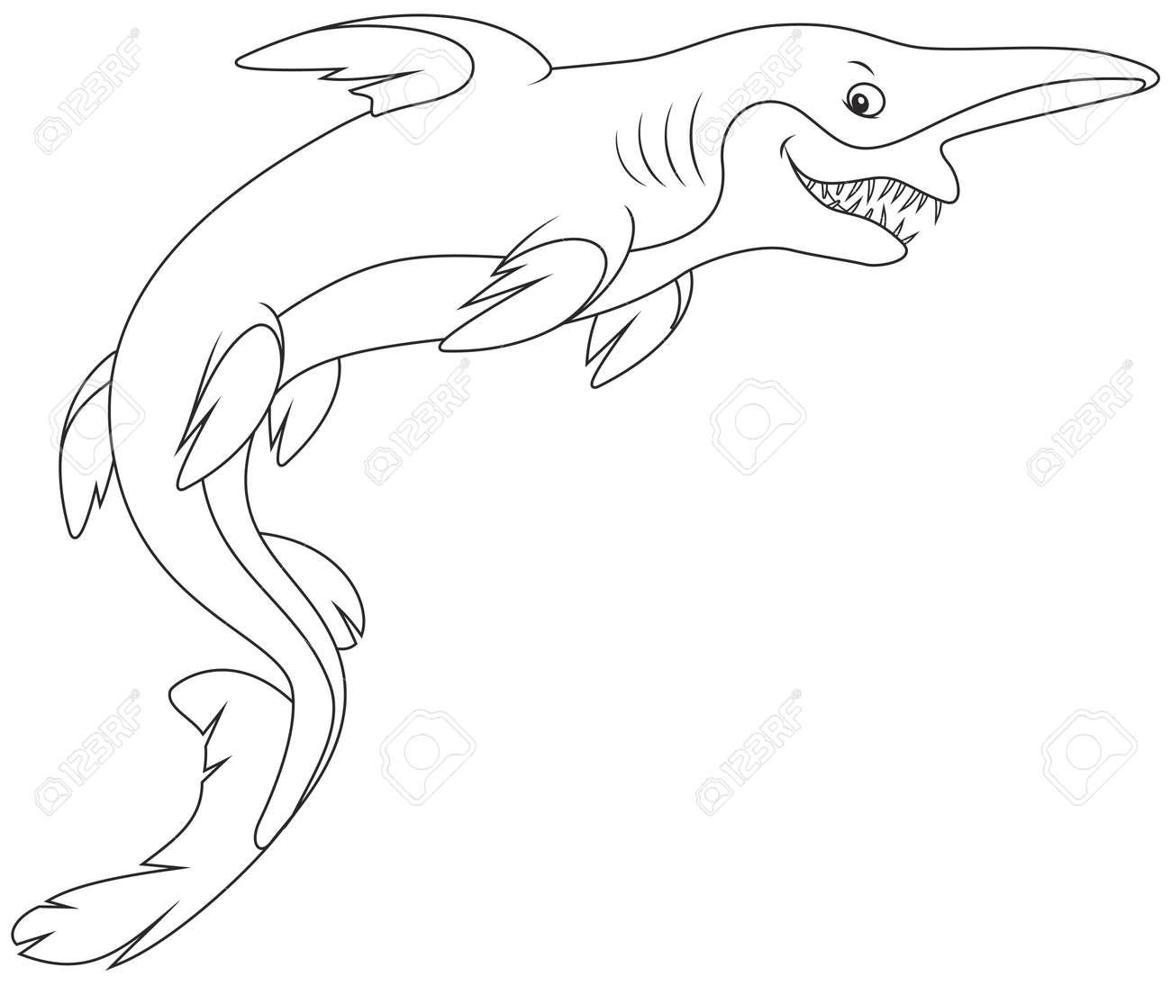 goblin shark stock vector 58848526