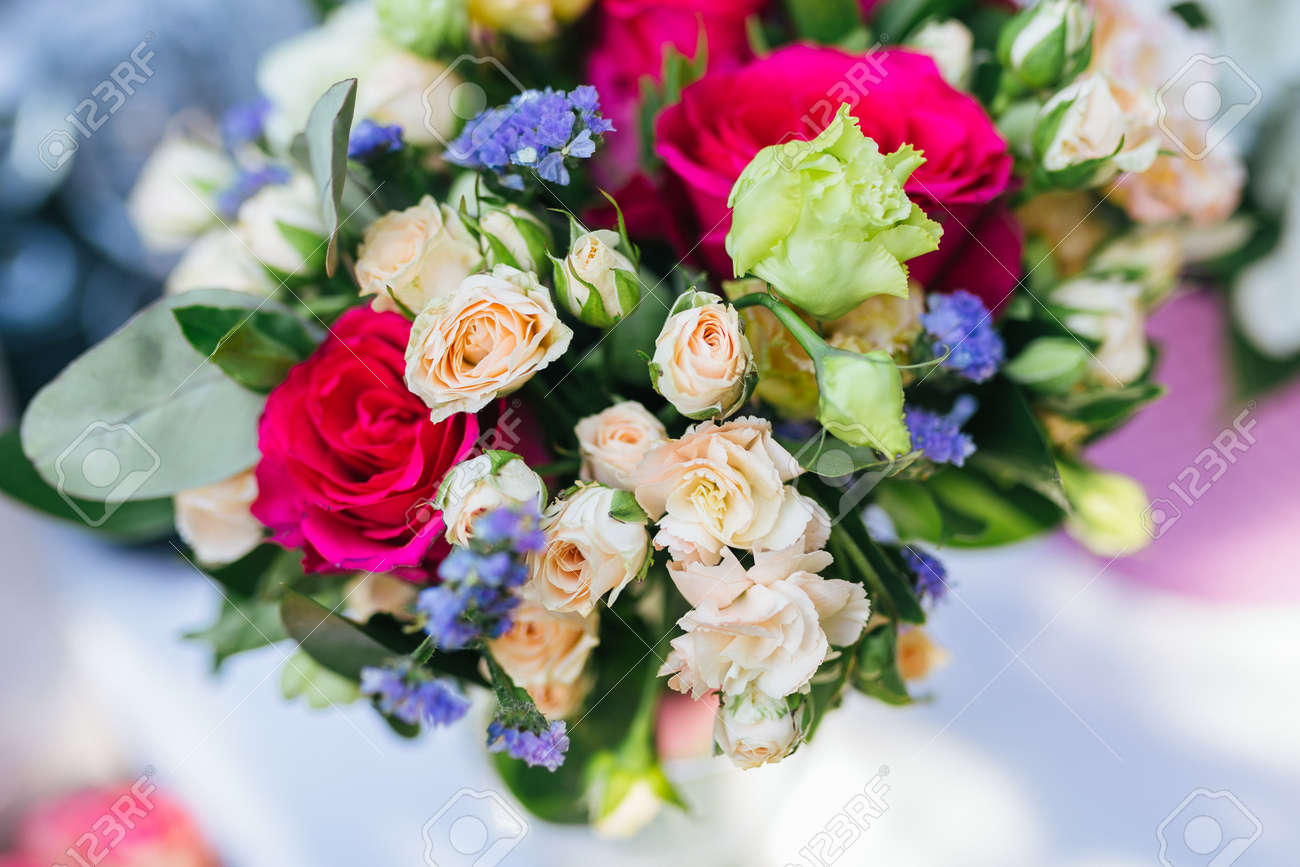 Bridal bouquet of fresh flowers lie on the table stock photo bridal bouquet of fresh flowers lie on the table stock photo 95668237 izmirmasajfo