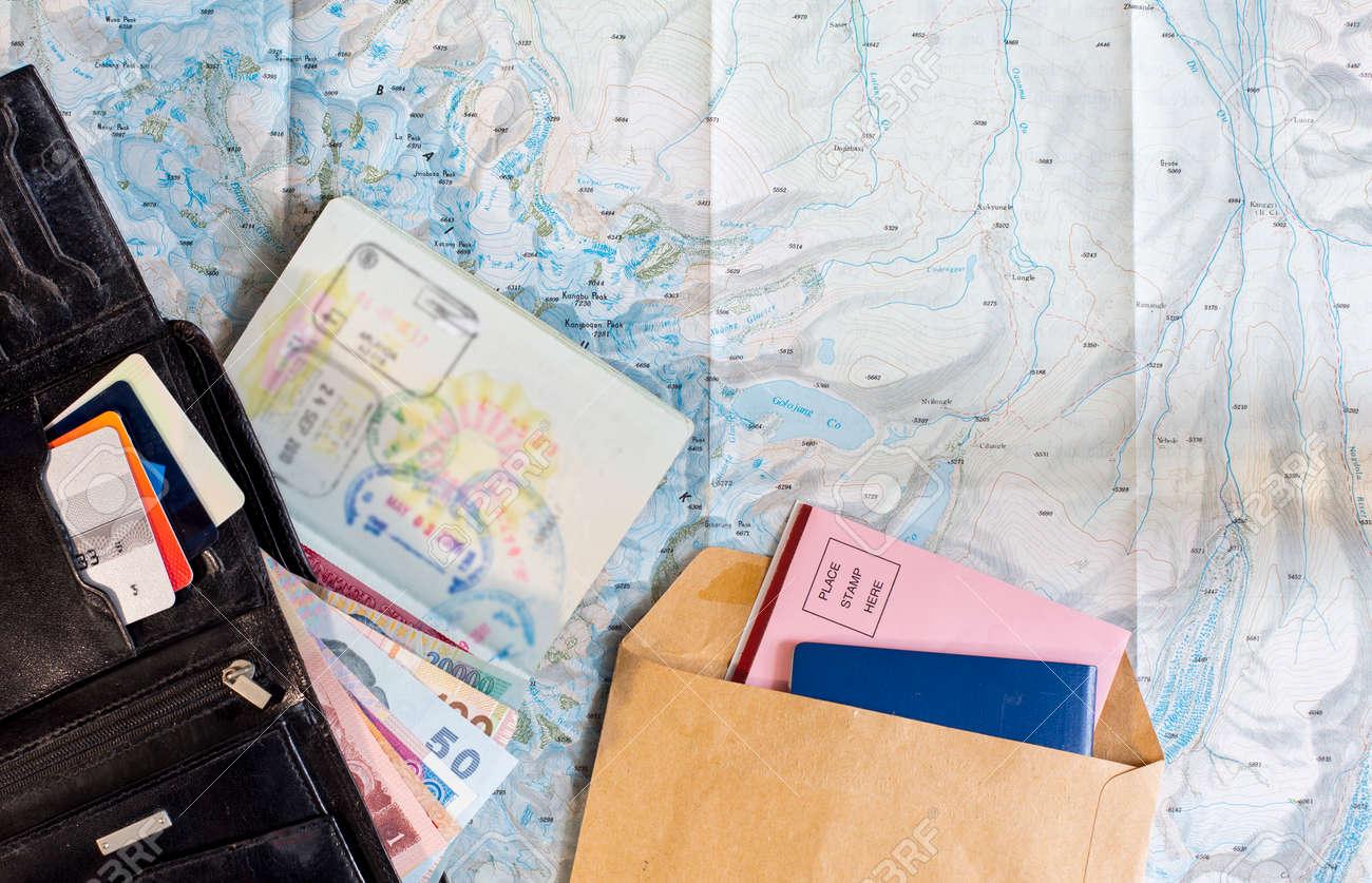 Bureau de voyageur fréquent la composition des éléments essentiels